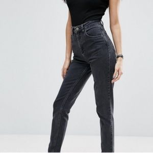 ASOS Farleigh Jeans 98% Cotton Faded Black
